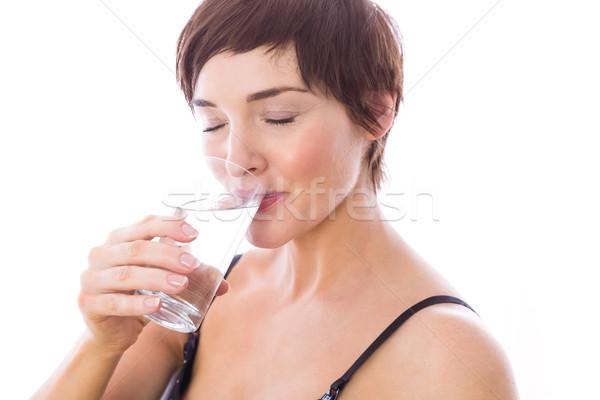 Pregnant woman drinking glass of water Stock photo © wavebreak_media