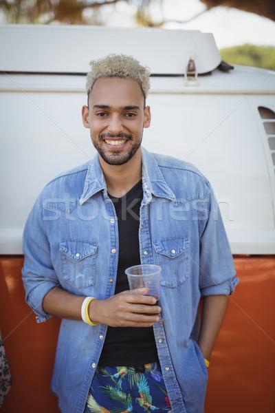 Portre adam bira cam kamyonet Stok fotoğraf © wavebreak_media