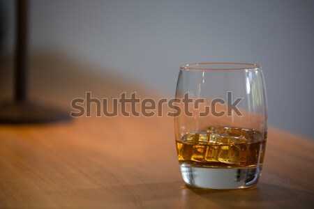 Close up of beer glass with ice cubes Stock photo © wavebreak_media