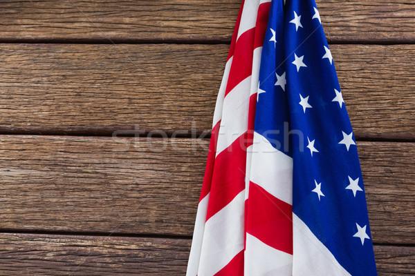 American flag on a wooden table Stock photo © wavebreak_media