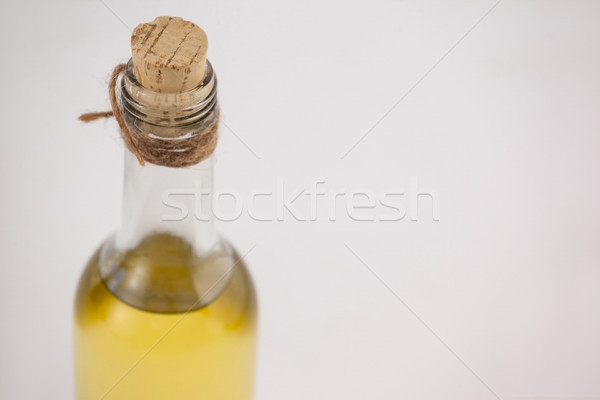 High angle view of olive oil bottle with cork Stock photo © wavebreak_media