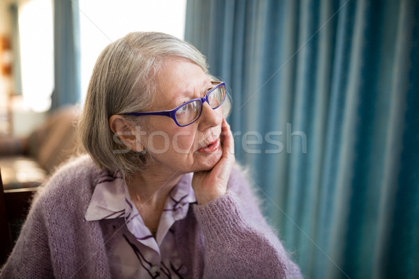 Thoughtful senior woman looking away Stock photo © wavebreak_media