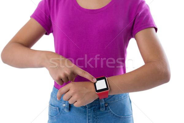 Tinilány fehér idő tinédzser női gyönyörű Stock fotó © wavebreak_media