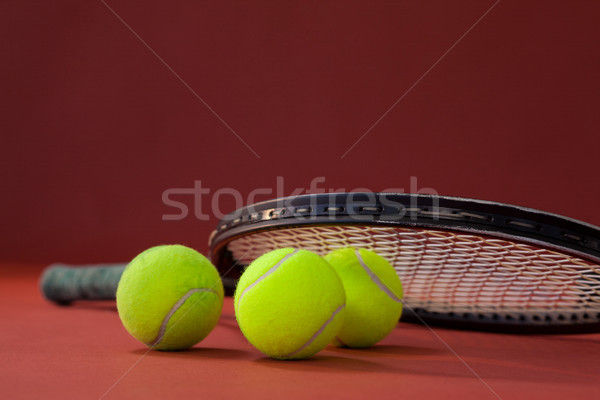 Tennisracket kastanjebruin business sport Stockfoto © wavebreak_media