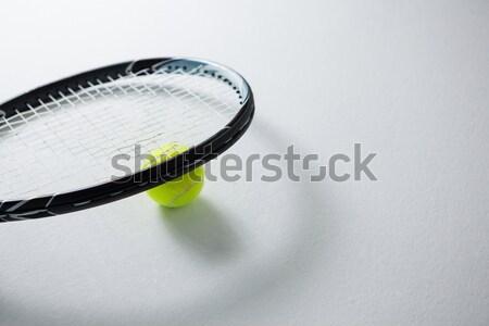Közelkép teniszütő labda árnyék fekete üzlet Stock fotó © wavebreak_media