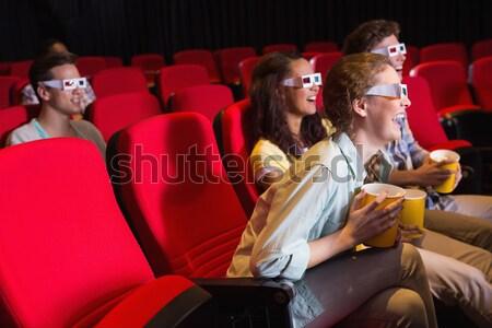 Heureux couple regarder film théâtre homme Photo stock © wavebreak_media