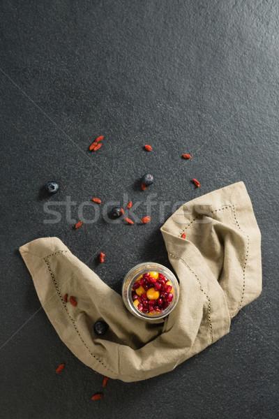 Iogurte dourado vidro jarra fitness Foto stock © wavebreak_media
