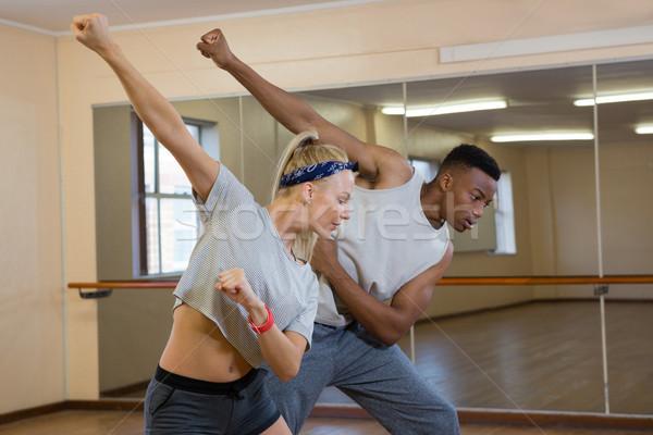 Amigos dançar espelho estúdio mulher dança Foto stock © wavebreak_media