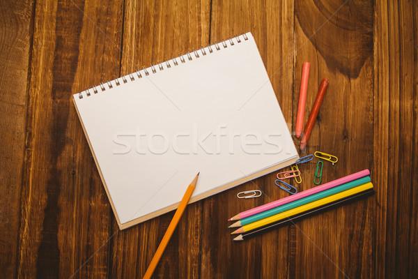 школьные принадлежности столе копия пространства выстрел студию Сток-фото © wavebreak_media