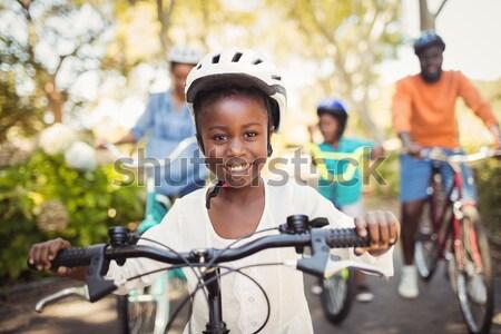 стажер шлема портрет человека счастливым Сток-фото © wavebreak_media