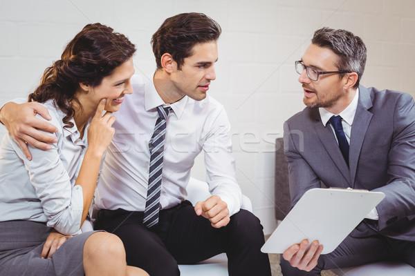 ビジネス プロ クライアント 座って オフィス ストックフォト © wavebreak_media