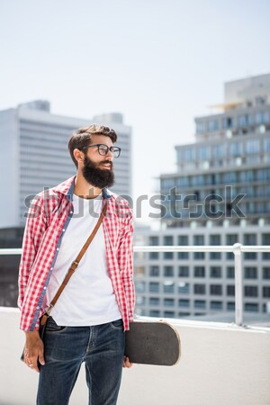 Thoughtful hipster man Stock photo © wavebreak_media