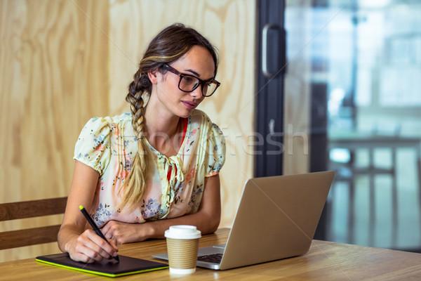 Graphic designer using graphics tablet Stock photo © wavebreak_media