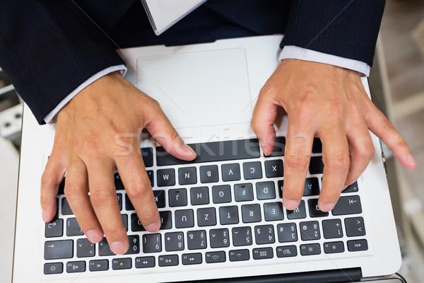 Technician using laptop Stock photo © wavebreak_media