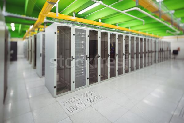 Korytarzu rząd serwerów serwera pokój miłości Zdjęcia stock © wavebreak_media