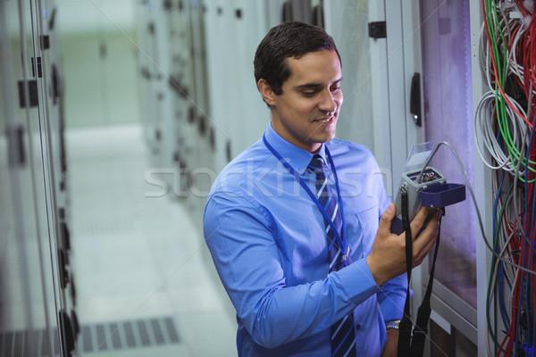 Techniker digitalen Kabel Server Zimmer Liebe Stock foto © wavebreak_media