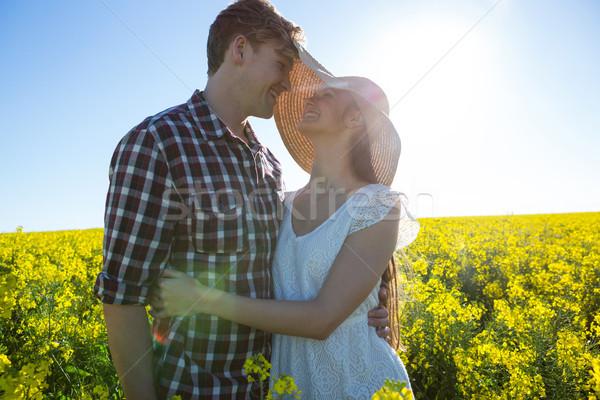Romantic couple embracing each other in mustard field Stock photo © wavebreak_media