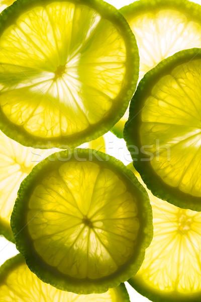Primo piano limoni comunicazione limone calce Foto d'archivio © wavebreak_media