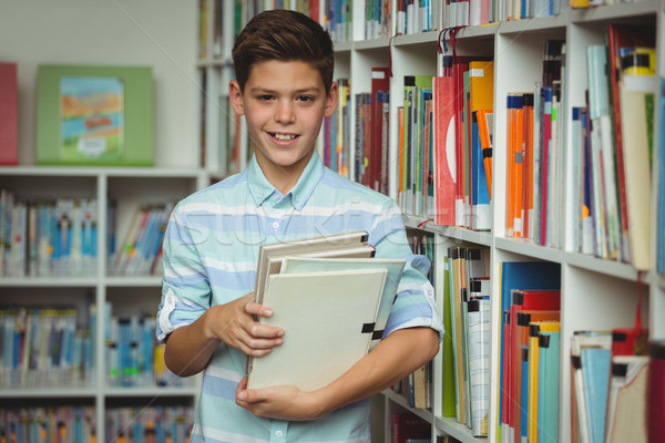 Stok fotoğraf: Portre · öğrenci · kitaplar · kütüphane · okul