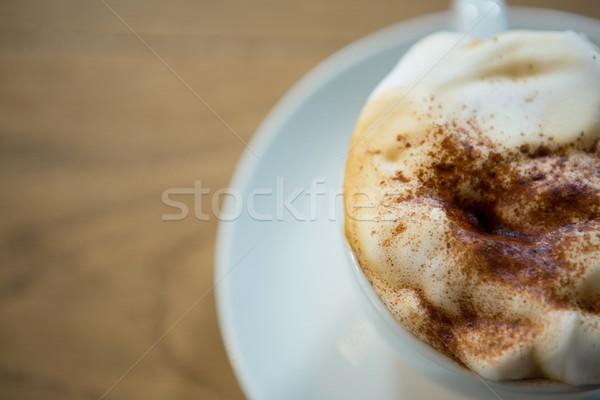 Lövés kávéscsésze krémes üzlet étterem tej Stock fotó © wavebreak_media