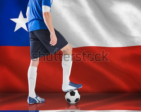 Futbolista digitalmente generado australiano bandera hierba Foto stock © wavebreak_media