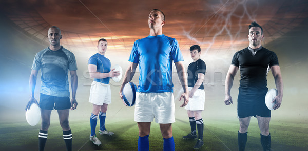 Imagen retrato pelota de rugby Foto stock © wavebreak_media