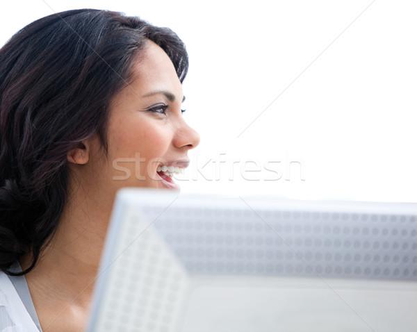 Self-assured businesswoman working at a computer Stock photo © wavebreak_media