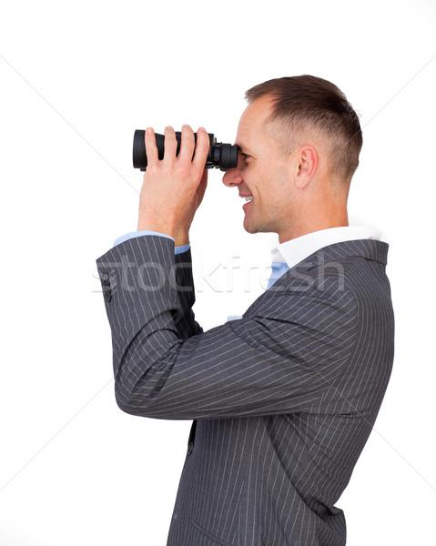Smiling businessman predicting future success  Stock photo © wavebreak_media