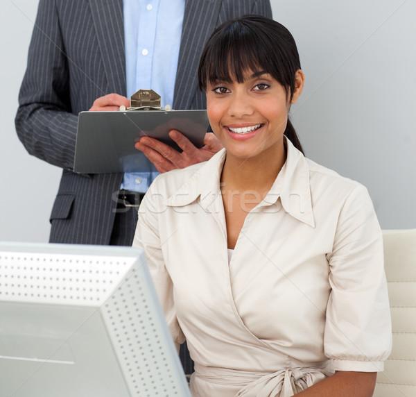 經理 工作 辦公室 計算機 男子 商業照片 © wavebreak_media