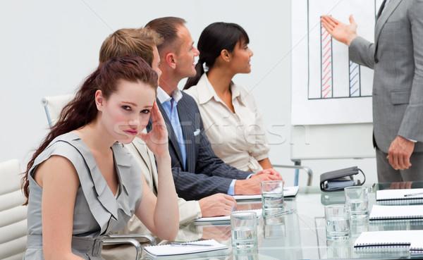 деловая женщина скучно презентация красивой бизнеса компьютер Сток-фото © wavebreak_media