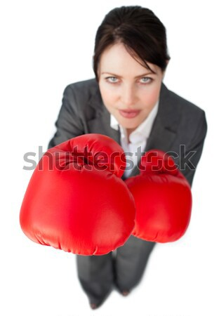 Assertive businesswoman beating the competition Stock photo © wavebreak_media