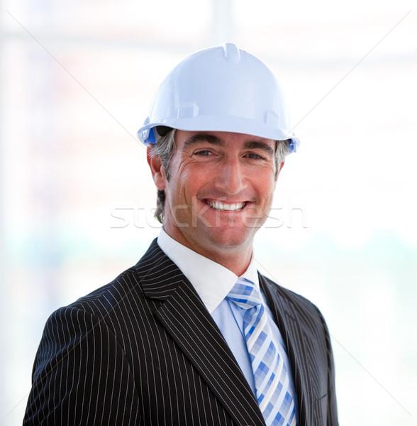 портрет успешный мужчины архитектора служба человека Сток-фото © wavebreak_media