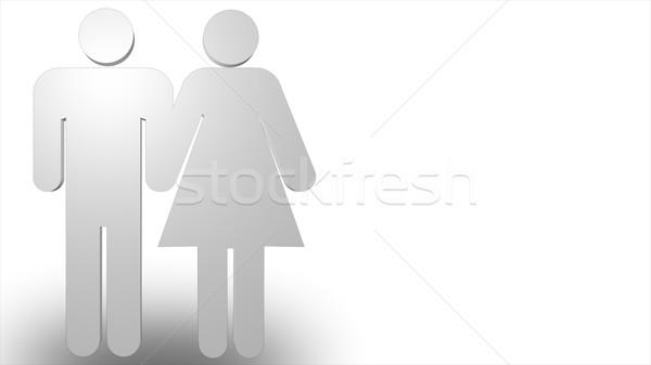 Hombre 3d mujer negocios nina mano hombre Foto stock © wavebreak_media