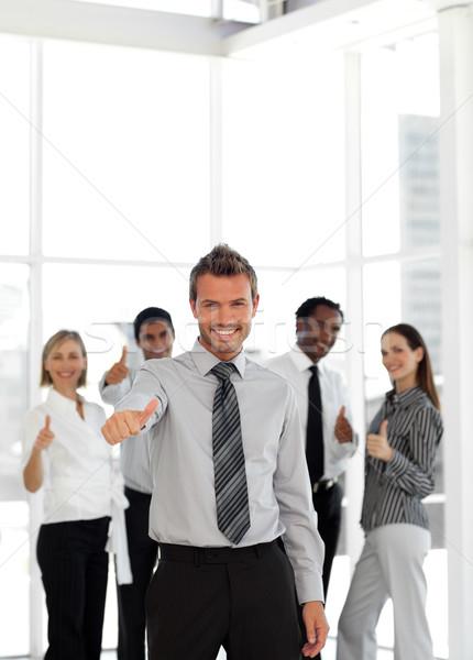 портрет счастливым мужчины лидера команда бизнеса Сток-фото © wavebreak_media
