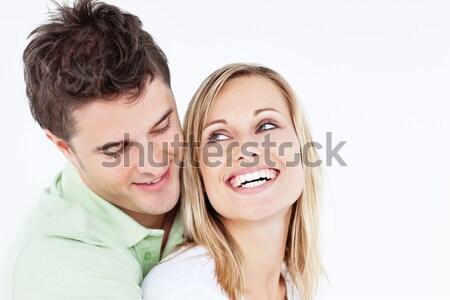 Schöner Mann lachen Freundin weiß Frau Stock foto © wavebreak_media