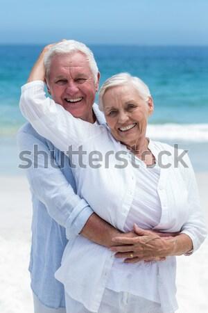 Kadın koca plaj kız gülümseme Stok fotoğraf © wavebreak_media