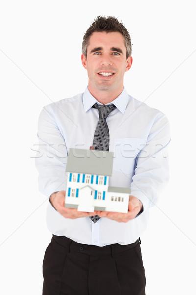 Miniatura casa branco mão Foto stock © wavebreak_media