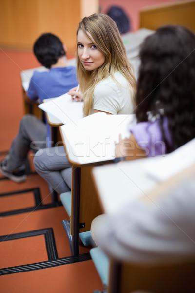 Portret młodych student amfiteatr szczęśliwy Zdjęcia stock © wavebreak_media