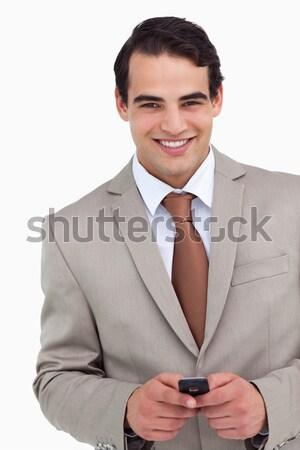 улыбаясь продавцом белый Сток-фото © wavebreak_media
