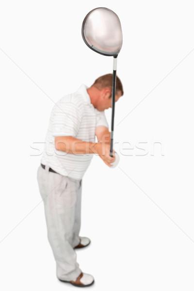 выстрел гольфист белый спорт играть Сток-фото © wavebreak_media