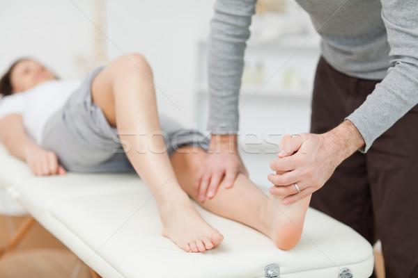 Descalzo habitación médicos pies femenino Foto stock © wavebreak_media