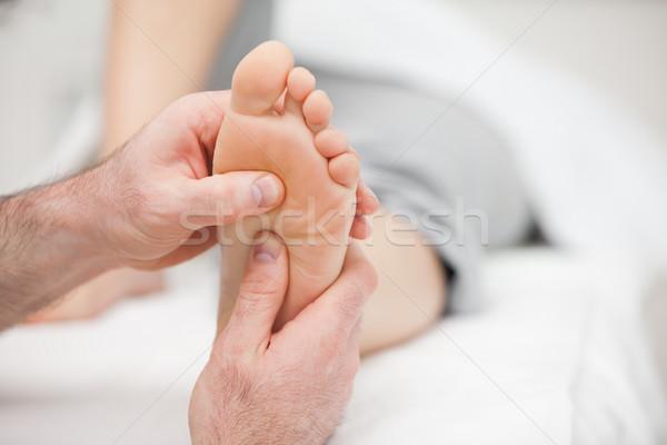 Stok fotoğraf: Hasta · ayak · masaj · oda · tıbbi · sağlık