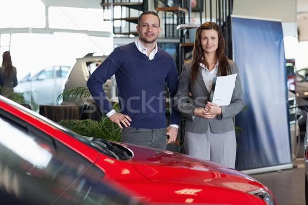 Man purchasing a new car in a dealership Stock photo © wavebreak_media