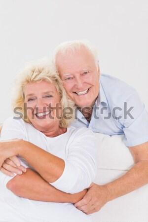 Vieux couple séance canapé femme amour Photo stock © wavebreak_media
