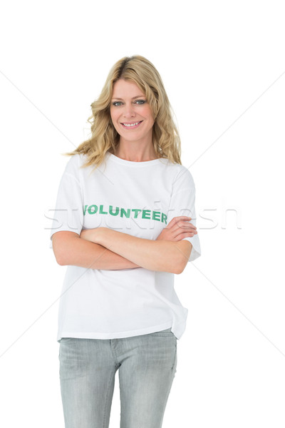 Portrait of a happy female volunteer with arms crossed Stock photo © wavebreak_media