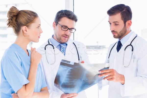 Doctors examining xray at the medical office Stock photo © wavebreak_media