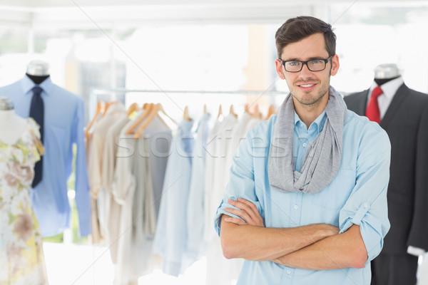 Sorridente masculino moda estilista bonito Foto stock © wavebreak_media
