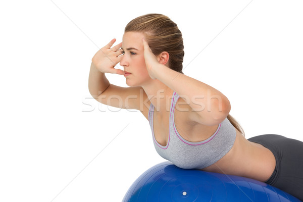 Uygun genç kadın uygunluk top yandan görünüş Stok fotoğraf © wavebreak_media