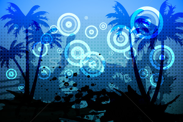 Digitally generated palm tree background Stock photo © wavebreak_media