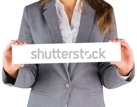 Işkadını boş kart beyaz iş kadın Stok fotoğraf © wavebreak_media